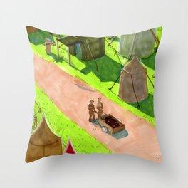 Aslan's camp Throw Pillow