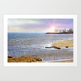 Sunset At The Beach - Tod's Point Art Print