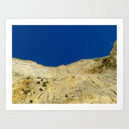 At the bottom of the cliff Art Print