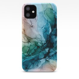 Salty Shores Abstract Painting iPhone Case