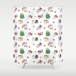 Christmas Guinea Pigs Shower Curtain