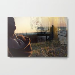 Darlin, your hiding once again. Metal Print