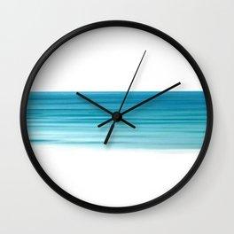 Turquoise Sea Stripe Wall Clock