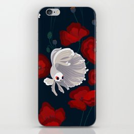 Bettas and Poppies iPhone Skin