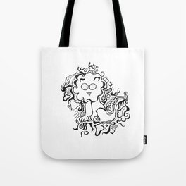 Lion Lineart Tote Bag