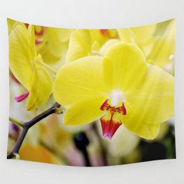 Close up Orchid #7 Wall Tapestry