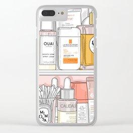Tangerine Shelfie Clear iPhone Case