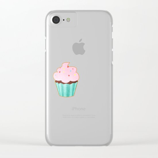 Cupcake tasty, sweet illustration Clear iPhone Case