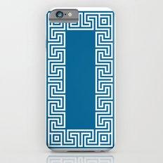 Greek Key blue iPhone 6s Slim Case