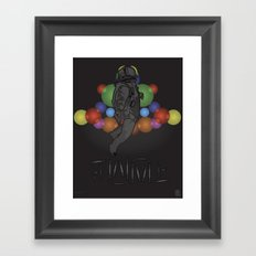 STEALTH JUMPMAN Framed Art Print