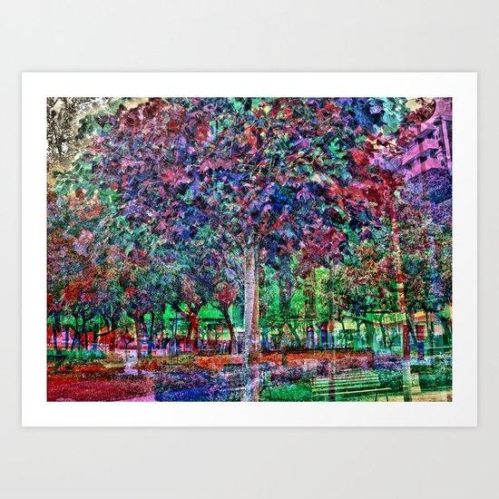 unfathomable algorithm : innermost acetone Art Print