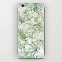 Green Tropical Leaves iPhone Skin