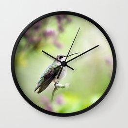 Hummingbird Charm Wall Clock