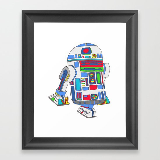 cool boys like epic droids Framed Art Print