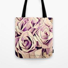 blush roses, lilac living, lilac floral, floral decor Tote Bag
