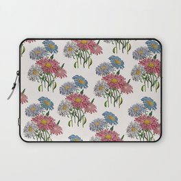 Old-fashioned illustration of China Asters Laptop Sleeve