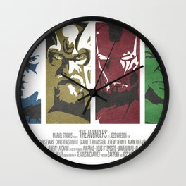 Vintage Avengers Film Poster Wall Clock