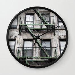 NY Green Wall Clock