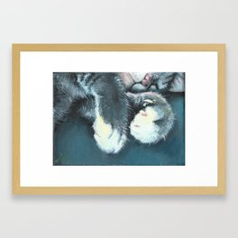 Huck's Feet Framed Art Print