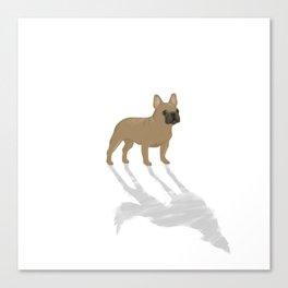 Wild At Heart - Fawn French Bulldog Canvas Print