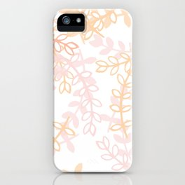 Kay - Blush and Pink Floral Print iPhone Case