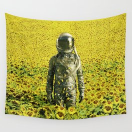 Stranded in the sunflower field Wall Tapestry