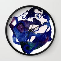 celestial Wall Clocks featuring Celestial by Stevyn Llewellyn