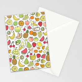 Juicy Fruits Doodle Stationery Cards