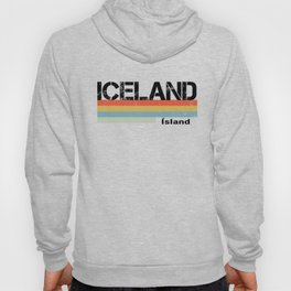 Iceland Country Vintage 1980s Style Souvenir & Gift Hoody