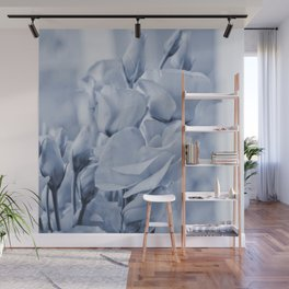 Soft blue lisianthus - Hampton Style Wall Mural