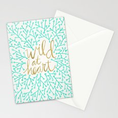 Wild at Heart – Turquoise & Gold Stationery Cards