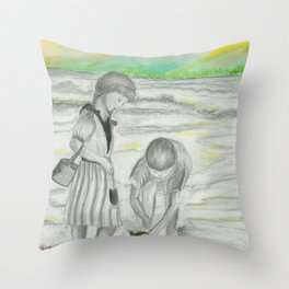 Turtle Rescue Throw Pillow