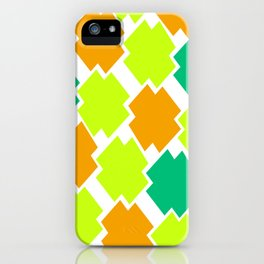 GRAPHIC SQUARES iPhone Case