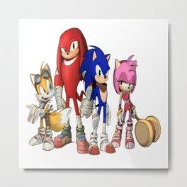 Sonic the hedgehog characters 4 Metal Print