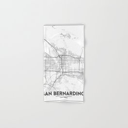 Minimal City Maps - Map Of San Bernardino, California, United States Hand & Bath Towel