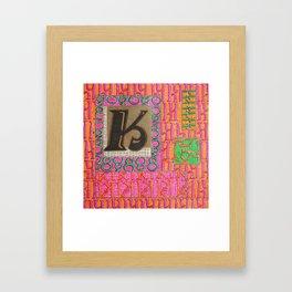 Alpha-Numero: K Framed Art Print