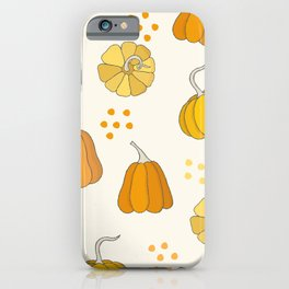 Orange and Yellow Pumpkins iPhone Case