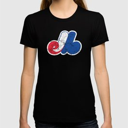 Montreal Expos Distressed Logo - Defunct Professional Baseball Team - Celebrate Quebec Sports History and Heristage - Retro Vintage Style T-shirt