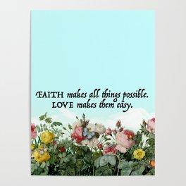Faith & Love Poster