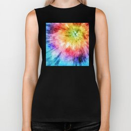Tie Dye Watercolor Biker Tank