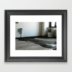 LOST PLACES - liquefied zonked man Framed Art Print