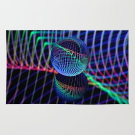 Swirls and lines in the glass ball Rug