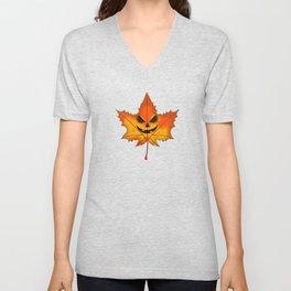Spooky Leaf Unisex V-Neck