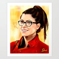 cosima Art Prints featuring Cosima by Monika Gross