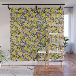 Lemons for pink lemonade Wall Mural