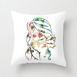 'Summer' Illustration Throw Pillow