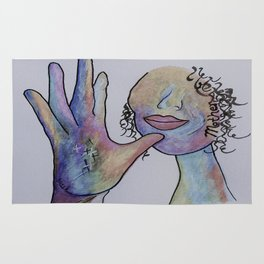 ASL Mother in Denim Colors Rug