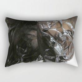 black plastic 03 Rectangular Pillow