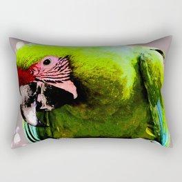 Endangered Great Green Macaw Rectangular Pillow