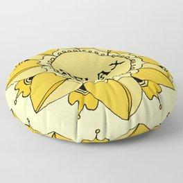 Relax Nouveau Golden Sun Mandala Floor Pillow